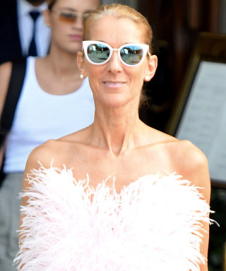 Only Celine Dion Could Pull Off Feathers and Furry Sandals