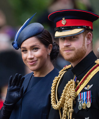 LONDON, ENGLAND - JUNE 08: Prince Harry, Duke of Sussex and Meghan, Duchess of Sussex ride by carriage down the Mall during Trooping The Colour, the Queen's annual birthday parade, on June 08, 2019 in London, England. (Photo by Samir Hussein/Samir...