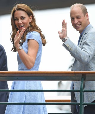Kate Middleton and Prince William Coordinate in Baby Blue for Daytime Date at Wimbledon