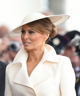 PORTSMOUTH, ENGLAND - JUNE 05: US First Lady Melania Trump attends the D-Day75 National Commemorative Event to mark the 75th Anniversary of the D-Day Landings at Southsea Common on June 05, 2019 in Portsmouth, England. (Photo by Karwai Tang/WireImage)