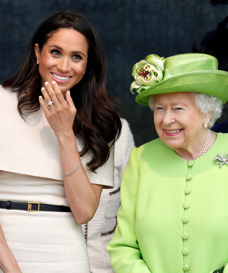 WIDNES, UNITED KINGDOM - JUNE 14: (EMBARGOED FOR PUBLICATION IN UK NEWSPAPERS UNTIL 24 HOURS AFTER CREATE DATE AND TIME) Meghan, Duchess of Sussex and Queen Elizabeth II attend a ceremony to open the new Mersey Gateway Bridge on June 14, 2018 in Widnes...