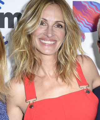 Julia Roberts Elie Tahari Jumpsuit and Wolford Tube Top