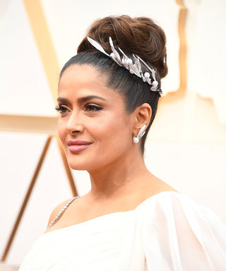 The $39 Matte Lipstick Salma Hayek Pinault Wore to the Oscars Did Not Budge