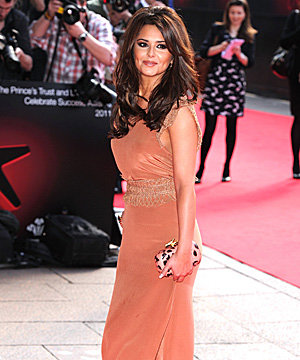 Cheryl Cole parties in peach with The Prince's Trust
