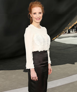 Jessica Chastain leads the front row fashion parade at Chanel's Paris Fashion Week show