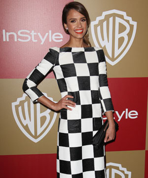 Kirsten Dunst and Jessica Alba check the geometric trend