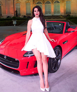 Lana Del Rey launches Jaguar F-Type in Paris