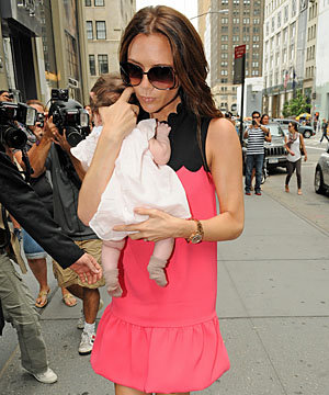 Victoria Beckham on shopping with baby Harper