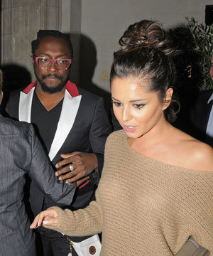 Cheryl Cole dines with Will.I.Am wearing statement Narciso Rodriguez heels