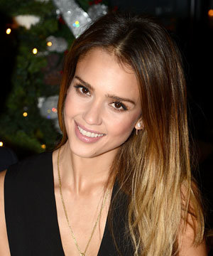 Celebrity hairstyle of the day: Jessica Alba's dip-dyed hair