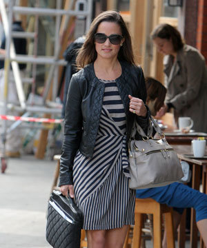 Pippa Middleton STYLE watch: Leather and stripes!