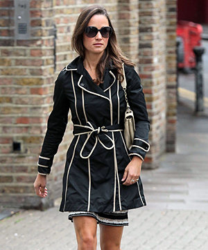 SPOTTED: Pippa Middleton covers up in style