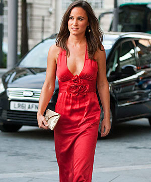 Lady in red! Pippa Middleton wows in Temperley at the Boodles Boxing Ball