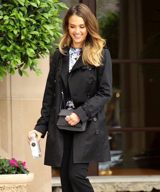 Jessica Alba follows in Victoria Beckham's flared fashion footsteps