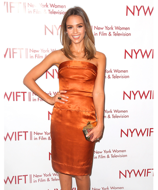 Jessica Alba Wows In Head-To-Toe Metallic At Women In Film Awards