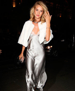 Only Rosie Huntington-Whiteley Could Make A Nightie Look This Chic