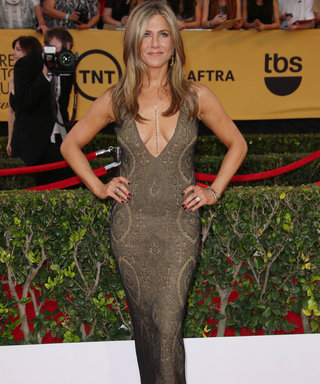Jennifer Aniston Wows In Plunging Vintage Galliano At The SAG Awards 2015