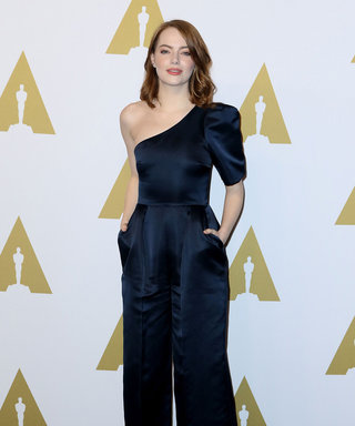 Emma Stone Just Wore The Stella McCartney Jumpsuit Of Our Dreams, Plus More Of The Best Looks From The Oscars Lunch