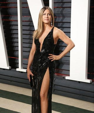 Jennifer Aniston Dazzles at the Oscars in $10.7M Worth of Diamonds and Sparkling High-Slit Gown