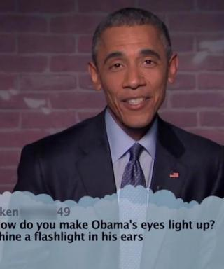 Watch President Barack Obama Read Mean Tweets About Himself on Kimmel