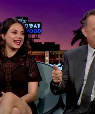 Mila Kunis Welcomes James Corden to Late Late Show, Drops Possible Marriage Bombshell