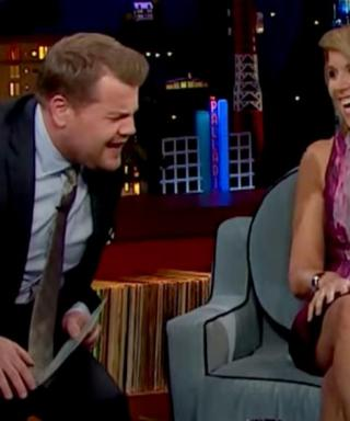 Katie Couric Pretends to Fall Down Stairs to Scare James Corden for April Fools' Day
