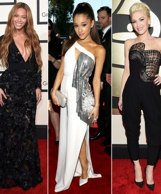 Classic Black and White Dominated On the Grammys Red Carpet