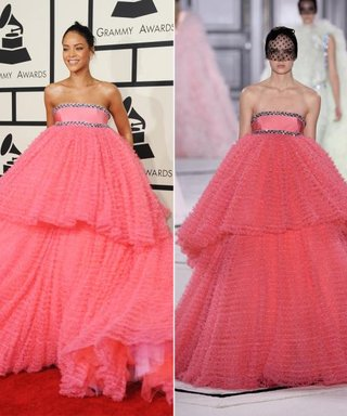 Runway to Red Carpet: Rihanna Wears the Cupcake Dress of Our Dreams at the Grammys