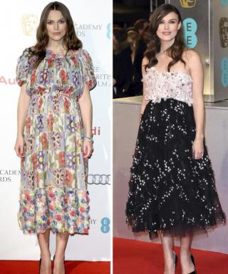 Keira Knightley Dresses Her Baby Bump in Two Chic Floral Looks for the BAFTAs