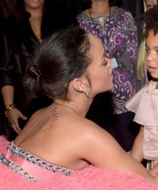 Rihanna and Blue Ivy Share a Special Moment Backstage at the Grammys