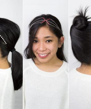 3 Easy Hair Accessory Hacks to Complete Your Valentine's Date Night Look