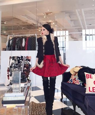 Alice + Olivia Designer Stacey Bendet Is Sharing Exclusive Photos on Our Twitter Today!