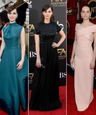 Take a Look Back at Felicity Jones On-Point Red Carpet Style