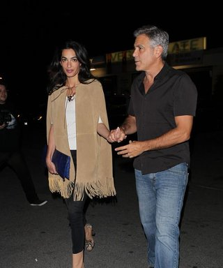 Amal Clooney Gets Fringy for Valentine's Day with George Clooney