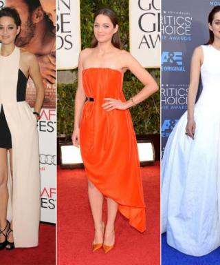 See Oscar Nominee Marion Cotillard's Classic-with-a-Twist Red-Carpet Style