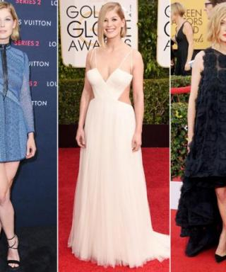 We're Officially Obsessed With Oscar Nominee Rosamund Pike's Daring Red Carpet Style