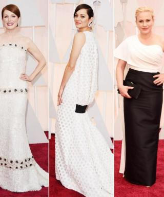 What's Black-and-White and Red All Over? The Oscars Red Carpet