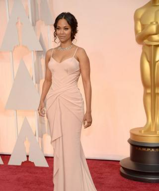 See Zoe Saldana's Amazing Post-Baby Physique On the Oscars Red Carpet
