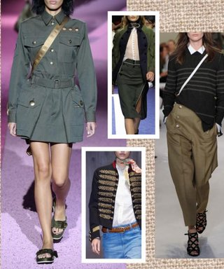 Get In Line with Spring's Military Trend