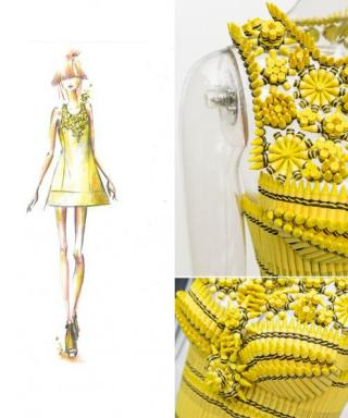 Color Us Happy: Designers Team Up with Crayola to Create Dresses Made of Crayons