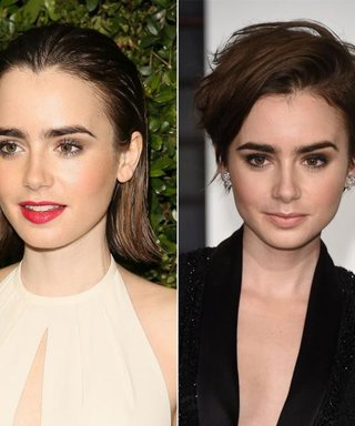 Lily Collins Chops Her Hair into a Pixie!