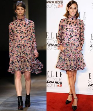 Alexa Chung Wears a Dress That's Hot Off the Catwalk