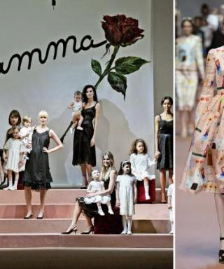 Eric Wilson's Front Row Diary: Dolce & Gabbana Design a Love Letter to Mom