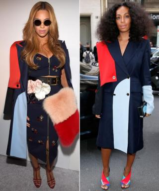 Sister Style: Beyoncé and Solange Knowles Sport the Same Coat