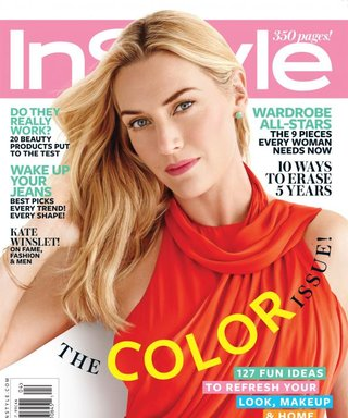For April's InStyle, Kate Winslet Gets Colorful in More Ways Than One