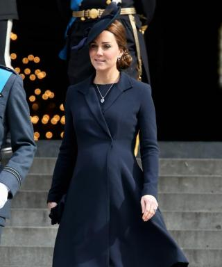 Kate Middleton Dresses Her Bump in Head-to-Toe Navy