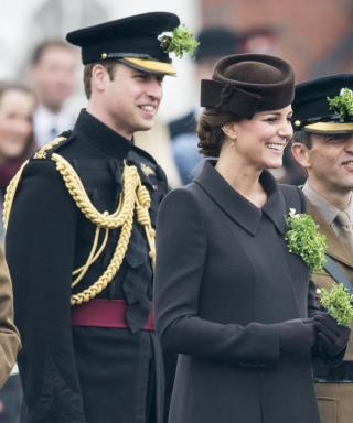 Kate Middleton Brightens Up Her St. Patrick's Day Outfit with a Sprig of Shamrocks