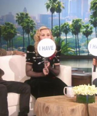 "Madonna and Justin Bieber Play a Game of ""Never Have I Ever"" on The Ellen DeGeneres Show"