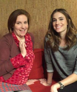 Lena Dunham and Allison Williams Just Went Lady and the Tramp on a Twizzler for Charity