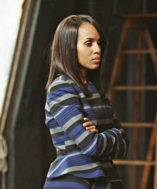 The Deep Meaning Behind Olivia Pope's Striped Jacket from Last Night's Scandal